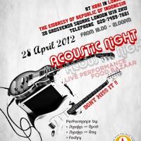 INVITATION: Acoustic Night 2012